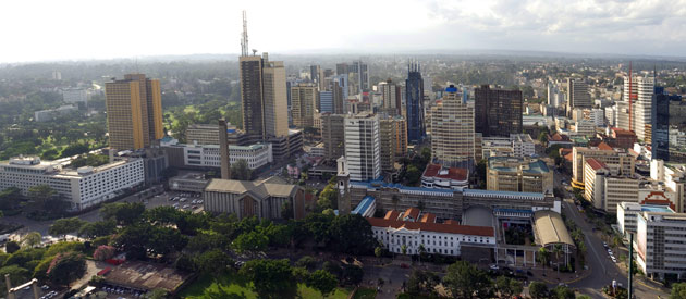 Overview of Nairobi City, Kenya