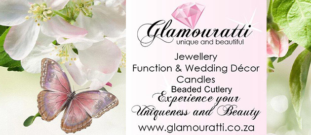 glamouratti, jewellery, decor, coordinator, glass, beads, weddings, custom designs, functions, events, free state